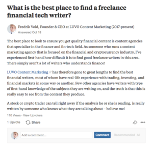 How to use Quora answers as part of your content marketing strategy.